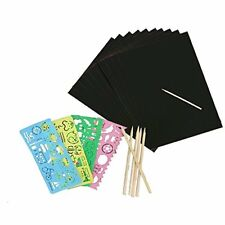 Face Like 20 Sheets Scratch Art Paper Black Magic Rainbow Painting Boards with 1