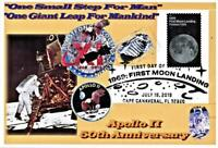 Apollo 11 50th Anniversary 4x6  Glossy Paper Collage Moon Stamp