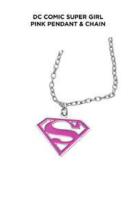 DC Comic Super girl Pink Pendant & Chain