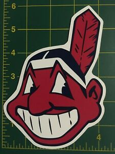 """Cleveland Indians Chief Wahoo 6 Inch Car Magnet cleveland indians magnet 6"""" tall"""