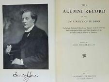 1913 University Of Illinois Urbana Champaign Alumni Record Edmund James U of I