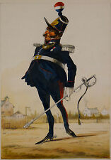 Entourage de Paul Gavarni/France 1862 Garde Nationale Officier aquarelle gouache