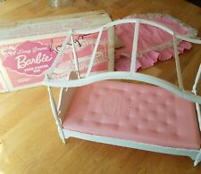 Vintage 1964 Susy Goose Barbie 4 Poster Bed, Canopy, Drawer, Bedding, With Box