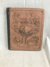 Great Orig. 1858 Mitchell's Primary Geography Engravings & 16 Hand Colored Maps