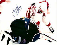 Darren McCarty signed 8x10 color photo NHL Detroit Red Wings Lemieux FIGHT