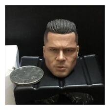 Custom 1/6 Scale Head Sculpt Fury Brad Pitt For Hot Toys Male