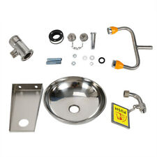 New listing Stainless Steel Emergency Eyewash Station Double Mouth Wall Mounted Eye Washer