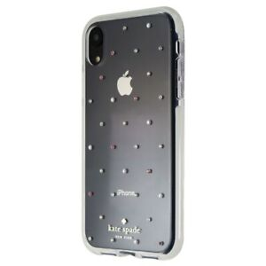 Kate Spade Defensive Hardshell Case for Apple iPhone XR - Clear / Pin Dot Gems