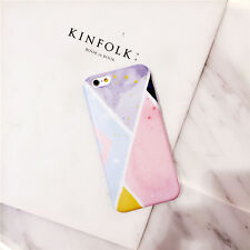Fashion Watercolor Contrast Color Pattern Soft Case Cover For iPhoneX 6S 7 8Plus