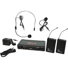 Galaxy Audio Edxr/38Sv Headset Lavalier Microphones Uhf Dual Wireless System D