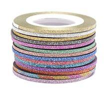 Zierstreifen Stripes selbstklebend Tape Nail Art bund 14  St. Set 2 mm