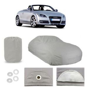 RFJJAL Car Cover Suitable For Audi TT Roadster Waterproof Breathable Rainproof And Snowproof Dustproof Resistance UV All Weather Protection Covers Indoor And Outdoor Color : Black, Size : 2004