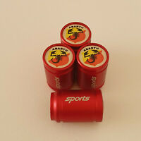 FIAT ABARTH METAL SPORTS Valve Dust caps all Cars 7 COLOURS UK DISPATCH RED 500