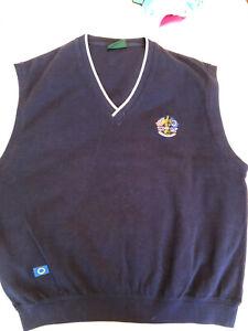Mans Glenmuir Ryder Cup 1999 Slipover Navy Top Size Large