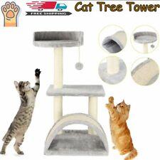 Cat Tree Scratcher Scratch Post Kitten Toy Scratching Activity Centre Sisal Bed