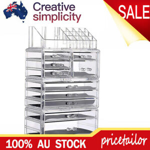 10 Drawers Clear Cosmetic Makeup Organizer Jewelry Storage Box