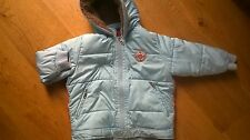 Designer Oilily Turquoise Blue Hooded Warm Padded Winter Coat Age 4-5 104-110cm