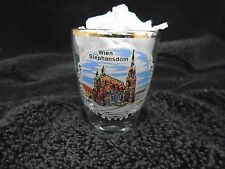Wien Stephansdom Shot Glass France Gold Rim Vienna Austria St Stephens Cathedral
