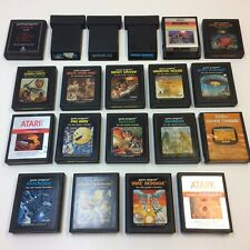 Lot of 20‼ Atari 2600 Space Invaders Asteroids Berzerk Haunted House + • TESTED‼