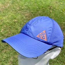 Vintage Retro NIKE ACG Deadstock New Baseball Cap Hat Blue - 2008