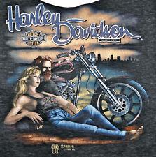 Vintage 80s 1989 3D EMBLEM HARLEY DAVIDSON Motorcycles T SHIRT Tank Top Halter M