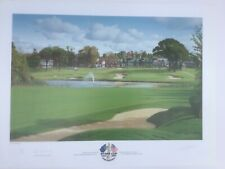New listing RYDER CUP 2001 THE BELFRY OFFICIAL SIGNED GRAEME BAXTER LIMITED EDITION PRINT