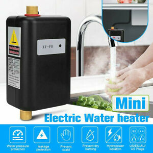 Electric Tankless Instant Hot Water Heater Under Sink Tap Kitchen Bathroom 3000W