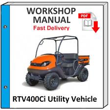 KUBOTA RTV400 RTV400Ci SERVICE REPAIR WORKSHOP MANUAL