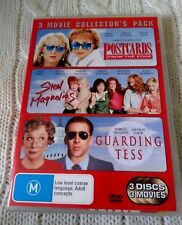 POSTCARDS/ STEEL MAGNOLIAS/ GUARDING TESS – DVD, 3-DISC, R-4, LIKE NEW FREE POST
