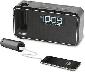 iHome iKN105 Black Dual Charging Bluetooth Alarm Clock