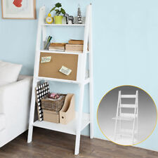 SoBuy® Bücherregal,Schreibtisch, Standregal,mit Korktafel,klappbar,weiß,FRG115-W