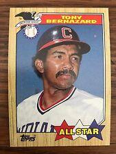 1987 Topps All Star Tony Bernazard Cleveland Indians 607