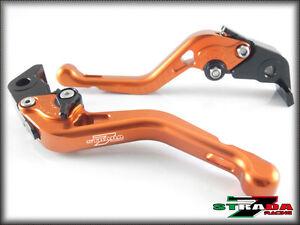 KTM 1290 Super Duke R 2014-20 Strada 7 Racing Adjustable CNC Short Levers Orange