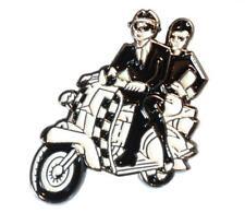 2 Tone Ska Coupler Black & White Scooter MOD Metal Scooterist Bike Enamel Badge
