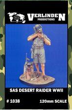 Verlinden 120mm WWII SAS Desert Raider Resin Figure Model Kit #1038