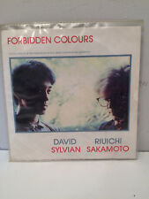 """David Sylvian Riuichi Sakamoto Forbidden Colours 1983 Virgin 7"""" Single"""