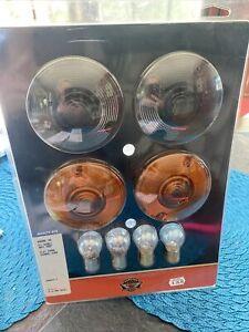 Genuine Harley Davidson Multi Fit Smoked Flat Turn Signal Lens Kit, 69308-02 NIP