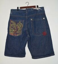 CLH Creating Limitless Heights Men's Shorts Urban Hip Hop 90s Blue Size 40