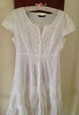 Boho Hippie Lace Dress,14,White,Cotton