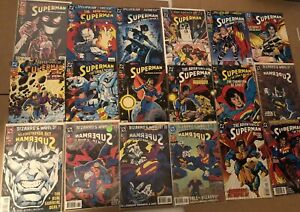 Lot of 60 DC SUPERMAN COMICS ACTION MAN OF STEEL 1993-1999 Jurgens Stern