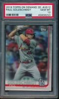 2019 Topps On Demand 3D #US12 Paul Goldschmidt PSA 10 Gem Mint SP /540