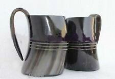 U600 ml beer wine mead Mug Viking Drinking Horn Set of TWO for marriage ceremony
