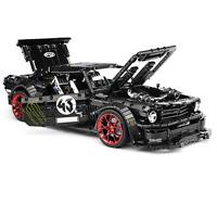 Custom Technic Mustang Car racecar 42056 42083 42110 Building Blocks Bricks MOC