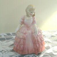 VINTAGE ROYAL DOULTON ROSE 5 Inch Blonde Hair Pink Ruffle Dress England HN1368