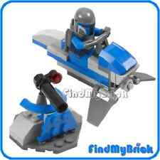 SW157 Lego Star Wars Mandalorian Minifigure with Speeder & Turret 7914 NEW