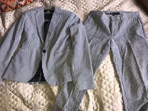 Zara Gingham Suit Set Eu36
