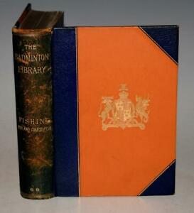 De Luxe Binding H. CHOLMONDELEY-PENNELL Fishing 1893 Pike & Coarse Fish LEATHER