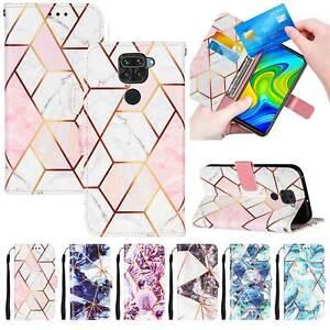Mosaic Marble Wallet Flip Case For Huawei P30 Xiaomi Mi 11 LG Velvet Moto G Play