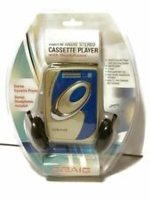 Craig Walkman AM/PM Cassette Player W/ Headphones Retro 80's Blue & Gray CS2301A