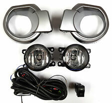 FOG LIGHT KIT SPOT LAMP SET for FORD RANGER PX 2011 - 2015 GREY COVERS